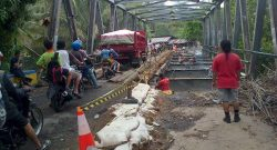 Jembatan Airmadidi, Saat pengerjaan, beberapa waktu lalu