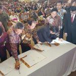 Walikota Bitung MoU Dengan Kanwil Hukum dan Ham Sulut