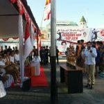 Ketua DPD Sulut Vonnie Anneke Panambunan membuka secara resmi ajang bergengsi Volly Ball Prabowo-VAP Cup