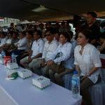Ketua DPD Gerindra Vonnie Panambunan didampingi Sekretaris Melki Suwawa, bersama DPRD Fraksi Gerindra dari Pusat, Provinsi hingga Kabupaten/Kota dan Kader Gerindra.