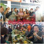 150 Turis Cina Makan Didaun Pisang, Minum Di Bulu
