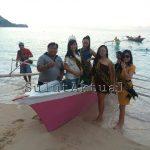 Lomba Balap Perahu Katinting Meriahkan Festival Pantai Pall