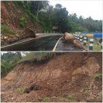 Jalan Sonsilo dan Munte Kecamatan Likbar Nyaris Tertutup Longsor