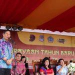 Kolaborasi Budaya Tionghoa-Minahasa Warnai Perayaan Imlek 2568 di Tugu Lilin