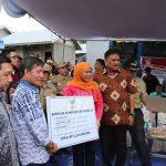 Dampingi Mensos, Walikota GSVL Tinjau Lokasi Pembangunan Rumah Korban Banjir
