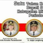 Setahun Kepemimpinan Bupati Minut Vonnie Panambunan dan Wakil Bupati Joppi Lengkong