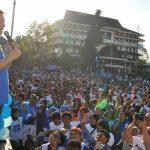 Dilantik Depan Ribuan Rakyat, Lumentut Nakhodai Demokrat Sulut