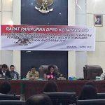 Walikota GSVL Sampaikan LKPJ Lewat Rapat Paripurna DPRD