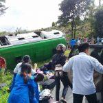 Bus Damri Pengangkut Mahasiswa KKN Kecelakaan