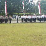Polres Minut Bersama TNI Gelar Apel Pengamanan HUT RI