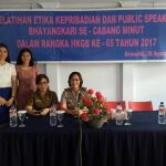 Polres Minut Gelar Pelatihan Public Speaking dan Etika Kepribadian