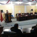 Bupati VAP Sampaikan KUPA dan PPAS di Rapat Paripurna DPRD Minut