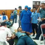 100 Kantong Darah Sumbangan Lanal dan RRI Pratama Tahuna