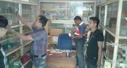 Pelaksanaan operasi terhadap obat obatan terlarang dilakukan Sat Narkoba Polres Sangihe di Apotik.