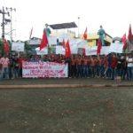 Aksi Turun Jalan LMND Dukung Nasionalisasi PT Freeport Indonesia