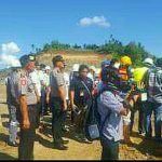 Tinjau Lokasi Proyek Jalan Tol, Polres Minut Amankan Kedatangan Menteri PUPR
