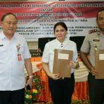 Pertama di Sulut, Kapolres dan Bupati Minut Tandatangani MoU Pengawasan Dandes