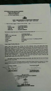 Surat laporan ke Polisi dari SWSC.
