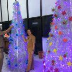Pohon Natal Dari Bahan Daur Ulang Bisa Ditemui di Dinas LH Manado