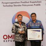 Pemkot Manado Diganjar Anugerah Kepatuhan Tertinggi Standard Pelayanan Publik Dari Ombudsman RI