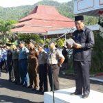 Inspektur Upacara Bela Negara. Gaghana: Bangun Kekuatan Dengan Kebersamaan Dalam Gotong Royong