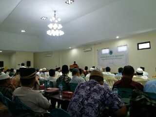 Pembukaan Musda oleh Walikota yang diwakili Staf Ahli Bidang Pemerintahan, Drs Heri Saptono.