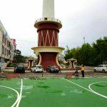 Dinas LH Kota Manado Bangun Lapangan Futsal di Area Tugu Lilin