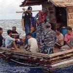 Tim EFQR Lanal Tahuna Amankan 8 WNP Illegal di Rumpon