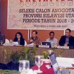 Seleksi Anggota KPU Provinsi Sulut Dibuka, Timsel Mulai Sosialisasi