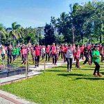 Pererat Hubungan TNI/Polri, Polres Minut –TNI AD Olah Raga Bersama