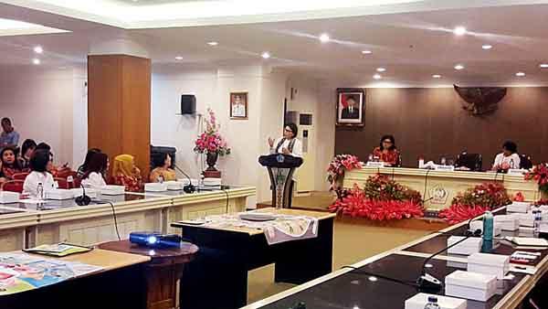 Suasana rapat kordinasi dan supervisi program pemberantasan korupsi yang dilaksanakan KPK.