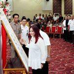 Bupati Vonnie Panambunan Ikuti Rakor dan Supervisi Pemberantasan Korupsi dari KPK