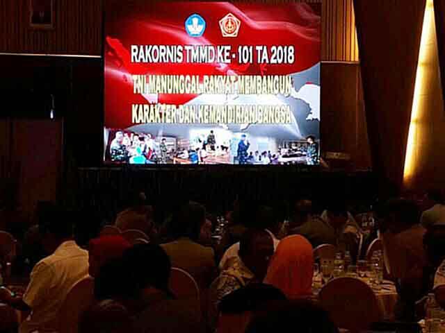 Suasana Rakornis TMMD ke-101 Tahin Anggaran 2018.