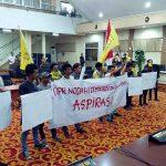 DPRD kota Manado Janji sampaikan Aspirasi PMII terkait Penolakan MD3