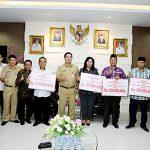 Muhammadiyah, NU, PHBI dan APTISI Terima Dana Hibah Dari Pemprov Sulut
