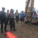 Personil Polres Minut ikut Evakuasi Korban Proyek Tol Manado-Bitung