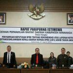 Paripurna Istimewa DPRD Minsel Bahas Rekomendasi LKPJ 2017