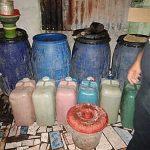Gelar Razia, Ratusan Liter Miras Oplosan, Diamankan Polres Minsel
