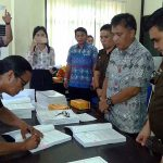 Disaksikan TP4D Kejari Manado, Penandatanganan Kontrak Kerja Dinas PUPR dan Kontraktor