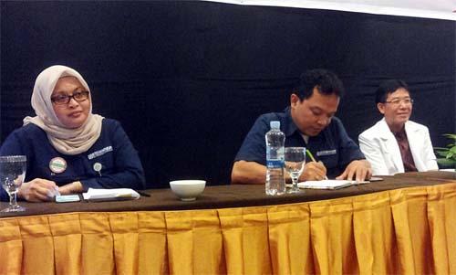 (Dari kiri) Dahniar Hasyim Dahlan, Adi Rengkung, dan dr Rudi Hartoyo menjadi panelis saat media gathering.