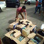Polres Minsel Gagalkan Penyelundupan Ratusan Botol Miras Jenis Cap Tikus