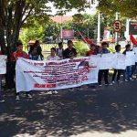 Peringati Hardiknas, LMND Sulut gelar Unjuk Rasa di Kantor Gubernur