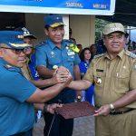 Danlantamal VIII Manado  Tinjau Lokasi Rencana Pembangunan Pangkalan TNI AL di Pananaru