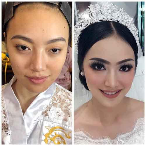 Before-After Make Up Ala New The House of Goen.