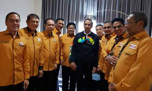 Dukungan atas dipilihnya kembali Joko Widodo sebagai calon presiden RI 2019-2024 diberikan oleh Partai Hati Nurani Rakyat atau Hanura.