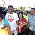 Pantau Bapok di Pasar Tradisional Airmadidi, Wabup Lengkong Dampingi Gubernur Olly