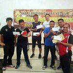 Partai Final, Wartawan Biro Minsel Tampil Juara di Ajang Tenis Meja HUT Bhayangkara-72