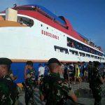 TNI-Polri Sweeping Penumpang dan Muatan di Pelabuhan Melonguane