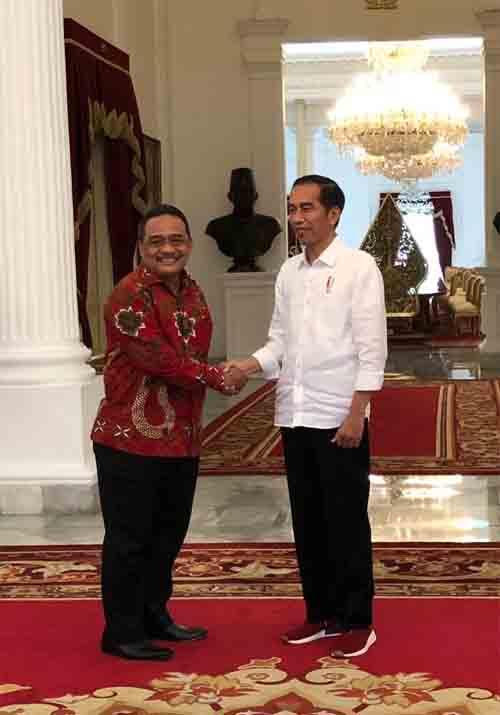 Senator Benny Rhamdani dan Presiden Jokowi di Istana Presiden.