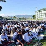 1.500 Umat Muslim Sholat Id di Markas Kodam XIII/Merdeka